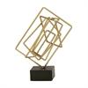Charming Metal Sculpture Gold, Gold & Black