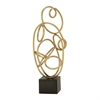 Innovative Metal Gold Sculpture, Gold