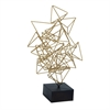 Captivating Iron Table Decor, Black and Gold