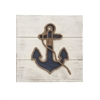 Eye-Catching Wood Rope Wall Decor, Navy Blue and White