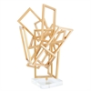 Aesthetic Metal Acrylic Gold Sculpture, Gold