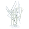 Amazing Metal Acrylic Sculpture, White