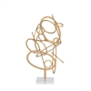 Modern Metal Acrylic Gold Sculpture, Gold
