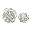 Artistic Metal Silver Orb Decor, Silver, Set Of 2