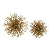 Inventive Metal Gold Orb Decor, Gold, Set Of 2
