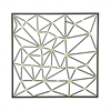 Fashionable Metal Wall Decor, Black And Gold