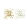 Striking Metal Wall Decor 2 Assorted, Gold & Silver
