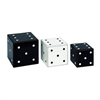 Mesmerizing Wood Dice Box, Black & White, Set Of Three