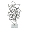 alluring Metal Acrylic Sculpture, Grey & translucent