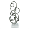 Funky Metal Acrylic Sculpture, Grey & Translucent