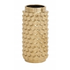 Benzara Astounding Patterned Ceramic Gold Vase