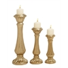 Amazing Ceramic Gold Candle Holder Set Of 3