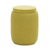 Benzara Simple And Lovely Ceramic Yellow Jar