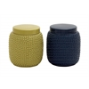 Cool And Colorful Ceramic Jar 2 Assorted