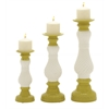 Benzara Beautiful Ceramic Candle Holder Set Of 3