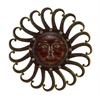 Benzara Metal Sun Wall Plaque Feel The Warmth Of Sun