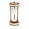 Benzara Metal/Glass 60 Minutes Hourglass 13 Inches High