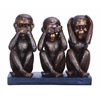 Benzara Monkey Speak, See, Hear No Evil Sculpture
