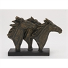 Smart Ps Horse Sculpture, Black & Rustic Gold