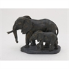 Amiable Ps Elephants, Black & Rustic Gold