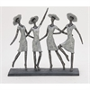 Charming Ps Ladies Sculpture, Black & Grey