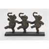 Gorgeous Ps Elephant Dancing, Grey, Rustic Gold