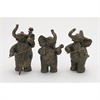 Creative, Black & Rustic Gold, Set Of Three Ps Elephant Musicians