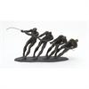 Beautiful Ps Metal Sculpture, Black & Rustic Gold