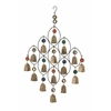 Benzara Enticing Metal Bead Bell Wind Chime
