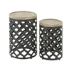 Exclusively Styled Set Of 2 Metal Wood Accent Table