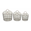 Benzara Stunning Set Of Three Metal Baskets