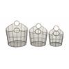 Stunning Set Of Three Metal Baskets