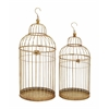 Benzara Enticing Set Of Two Metal Bird Cage