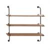 Customary Styled Fancy Wood Wall Shelf