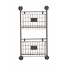 "Versatile Metal Wall Storage Rack 16""W, 28""H"