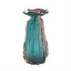 58992 Stunning Glass Vase, Taupe & Blue