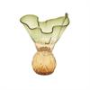 Elegant Glass Vase Green, Green, Amber