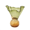 Stylish Glass Vase Green, Green, Amber