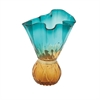 Modish Glass Vase Green, Blue, Amber