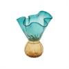 Classy Glass Vase Green, Blue, Amber