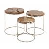 Classy Set Of 3 Wood Teak Nesting Table