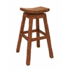 Benzara Contemporary Styled Wood Mahogany Stool