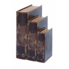 Benzara Faux Book Box Set With Ancient Holy Bible Theme