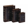 Benzara Faux Book Box With Dark Finish - Set Of 3