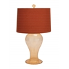 Customary Styled Glass Amber Table Lamp