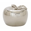 "Excellent Ceramic Silver Apple 11""W, 9""H"