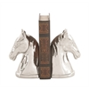 Benzara Attractive Ceramic Silver Bookend