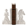 "Benzara Stylish Ceramic Marble Finish Bookend Pair 5""W, 8""H"