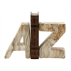 "Attractive Ceramic Marble Finish Bookend Pair 6""W, 8""H"