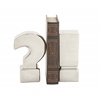 Benzara Extraordinary Ceramic Silver Bookend